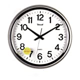 Telesonic 18 Inch Silver Wall Clock w/Quiet Sweep