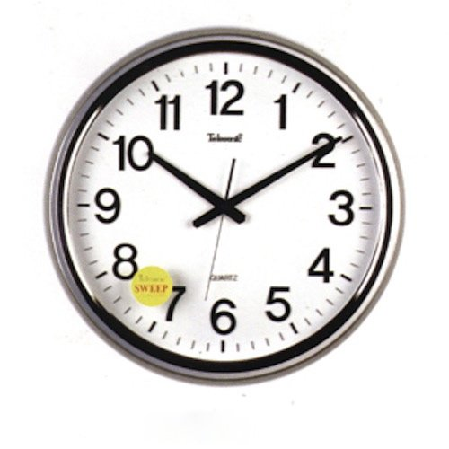 Galleon - Telesonic 18 Inch Silver Wall Clock W/Quiet Sweep