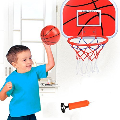 e98f8cacfbb FOCCTS Mini Basketball Hoop 16 x 12 Inch Over The Door Wall Mount Backboard  Toy Basketball