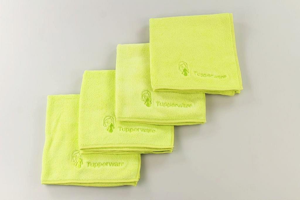 TUPPERWARE FaserPro Kosmetik limette Mikrofasertuch 3
