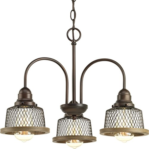 Three Chandelier Bronze Antique Light (Progress Lighting P400073-020 Tilley Three-Light Chandelier, Antique Bronze)