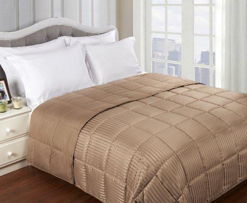 down alternative comforter taupe - 8