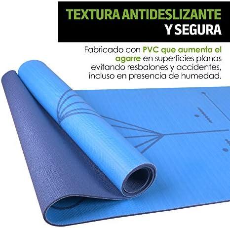 Redlemon Tapete de Yoga, Yoga Mat de 6mm de Grosor, Diseño Bicolor Ultrasuave, Antideslizante, Resistente, Flexible, Fácil de Limpiar, Enrollable. Ideal Para Pilates, Fitness, Meditación y más 6