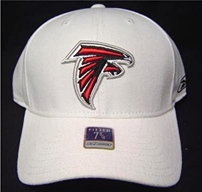 Size 7 3/4 White NFL Atlanta Falcons Fitted Cap / Hat