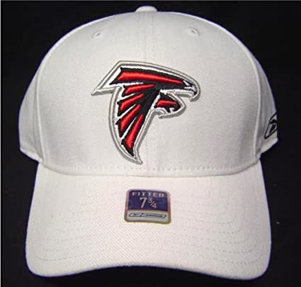 7765ddae0 Amazon.com   NFL Size 7 3 4 White Atlanta Falcons Fitted Cap Hat ...