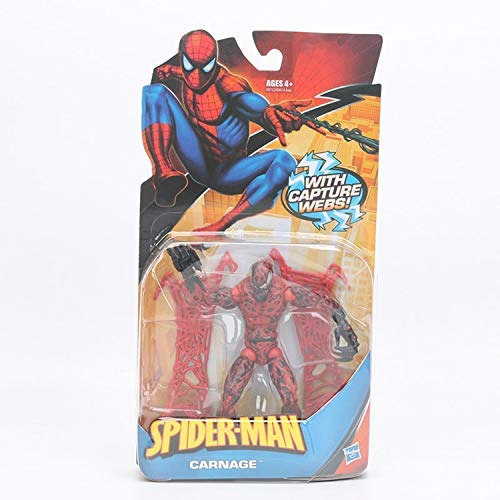 (PAPWELL Carnage Action Figure 7 inch Marvel Legends Hot Toys The Amazing Spiderman Spider-Man Mini Red Venom Figures Antihero Toy Christmas Halloween Collectibles Collectable Gift Collectible for)