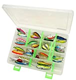 LotFancy 30 PCS Fishing Lures and Storage Box, Crankbaits Hooks Minnow Baits Tackle, Length From 1.5 to 3.6 Inches (Various, Storage Case+30PCS Fishing Lures)