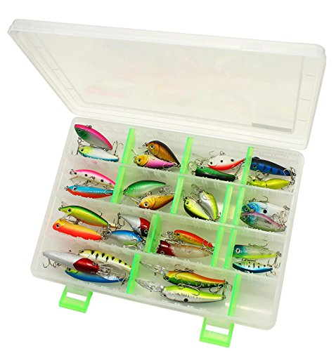 LotFancy 30 PCS Fishing Lures and Storage Box, Crankbaits Hooks Minnow Baits Tackle, Length From 1.57 to 3.66 Inches (Various, Storage Case+30PCS Fishing Lures)