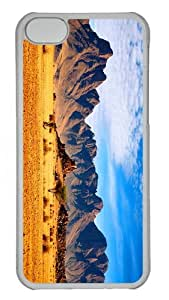 cases top savanna mountains PC Transparent case for iphone 5C