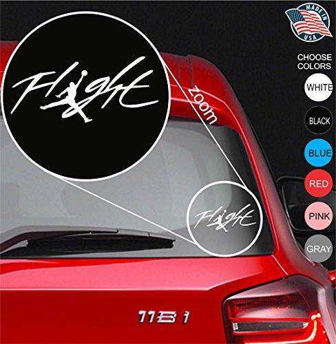 23 Micheal Air Jordan Flight Logo Vinyl Decal Sticker - Car Window, Laprop, Wall, Mac (5.5