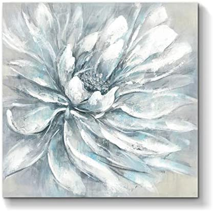Flower Picture Abstract Wall Art Floral Painting Hand Painted Artwork on Canvas for Office 36 x 36 x 1 Panel