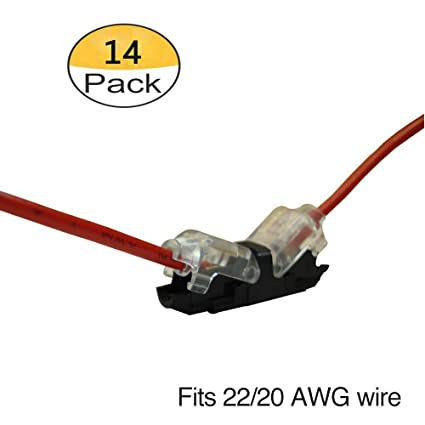 Quick Wire Splice Connector - Pack of 14 Quick Wire Extension connector on
