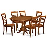 Cheap East West Furniture POML7-SBR-W 7-Piece Dining Table Set