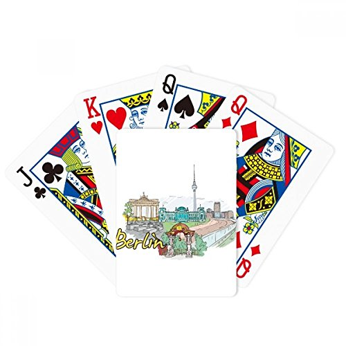 - DIYthinker Germany Berlin Landmark Architecture Poker Playing Cards Tabletop Game Gift