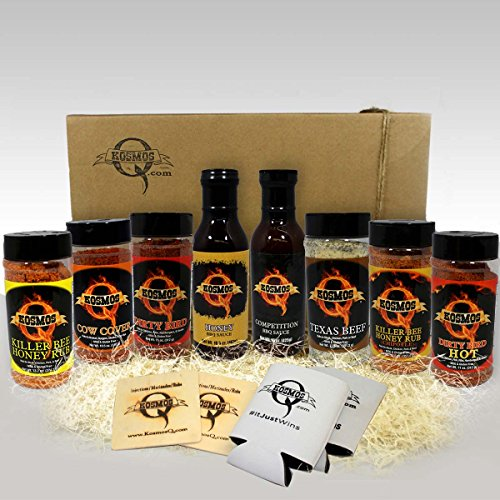 The Pit Master - Gift Basket is the best of the Backyard Grill BBQ Gift Basket - Spices & Sauce 11pcs set. What you get in this gift (Barbecue Sauce Gift Basket)