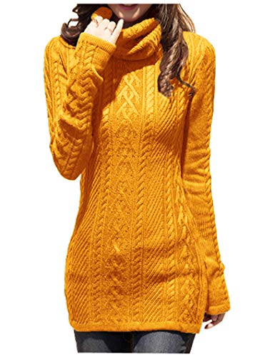 Sweater Knit Tights (v28 Women Polo Neck Knit Stretchable Elasticity Long Slim Sweater)