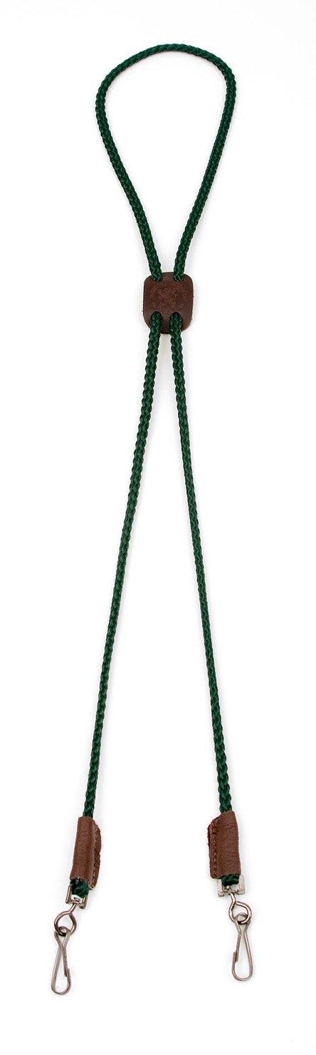 Mendota Pet Dog Whistle Lanyard, Double, Hunter Green, 1/8 x 25-Inch
