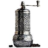 Bazaar Anatolia Pepper Mill, Spice Grinder, Pepper Grinder, Turkish Grinder (Dark Silver, 4.2')