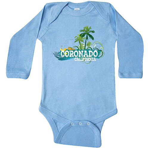 Coronado 12 Light (inktastic Coronado California CA Long Sleeve Creeper 12 Months Light Blue)