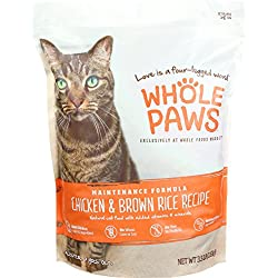 Whole Paws, Adult Maintenance Cat Food Formula, Chicken & Brown Rice, 3.5 lb