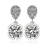 2a96c61e5f30 Joyería Xuping Pendientes de cristal de platino Moda chapado en oro para  las mujeres de las