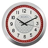 Bulova Juke Box Wall Clock, Silver
