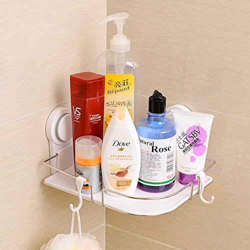 Powerful cupule bathroom stainless steel triangular rack/ corner bathroom storage racks 60%OFF