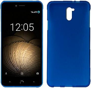 iGlobalmarket Funda Silicona para BQ Aquaris U Plus (Azul): Amazon ...