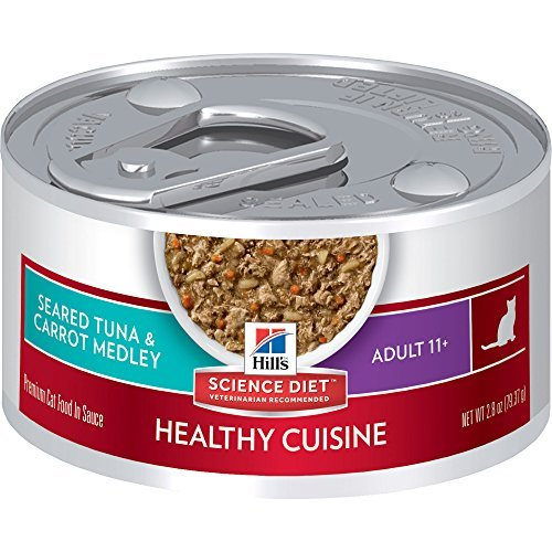 Hill's Science Diet Adult 11+ Healthy Cuisine Seared Tuna & Carrot Medley Canned Cat Food, 2.8 oz, by Hill's Science Diet Cat by Hill's Science Diet Cat