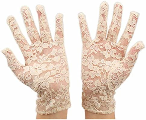URSFUR Guantes de algodón hermosas guantes de novia boda fiesta ...