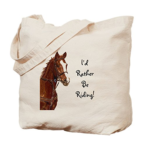 Horse Tote Bag - CafePress - Id Rather Be Riding! Horse - Natural Canvas Tote Bag, Cloth Shopping Bag