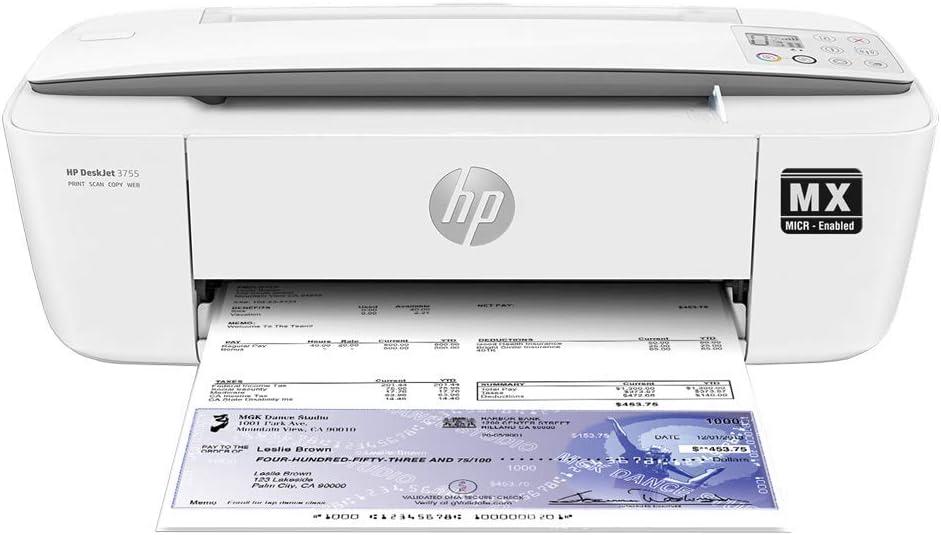 VersaCheck HP Deskjet 3755 MX printer