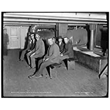 16 x 20 Gallery Wrapped Frame Art Canvas Print of U S S Vermont recruits waiting for examination 1898 Detriot Publishing co. 46a