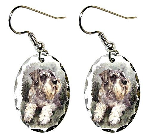 (Canine Designs Miniature Schnauzer Scalloped Edge Oval)