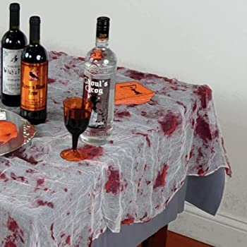 Amazon.com: Fun Express Zombie Blood Table Cover Party Decor: Toys ...