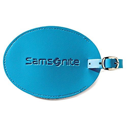Samsonite Large Vinyl ID Tag Pagoda Blue