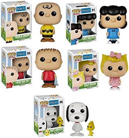 Peanuts Mini Figure Charlie Brown Lucy Snoopy Woodstock 8pcs BIN