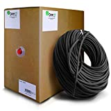 GearIT Cat5e Ethernet Cable Bulk 1000 Feet - Cat 5e 350Mhz 24AWG Full Copper Wire UTP Pull Box - In-Wall Rated (CM) Stranded Cat5e, Black