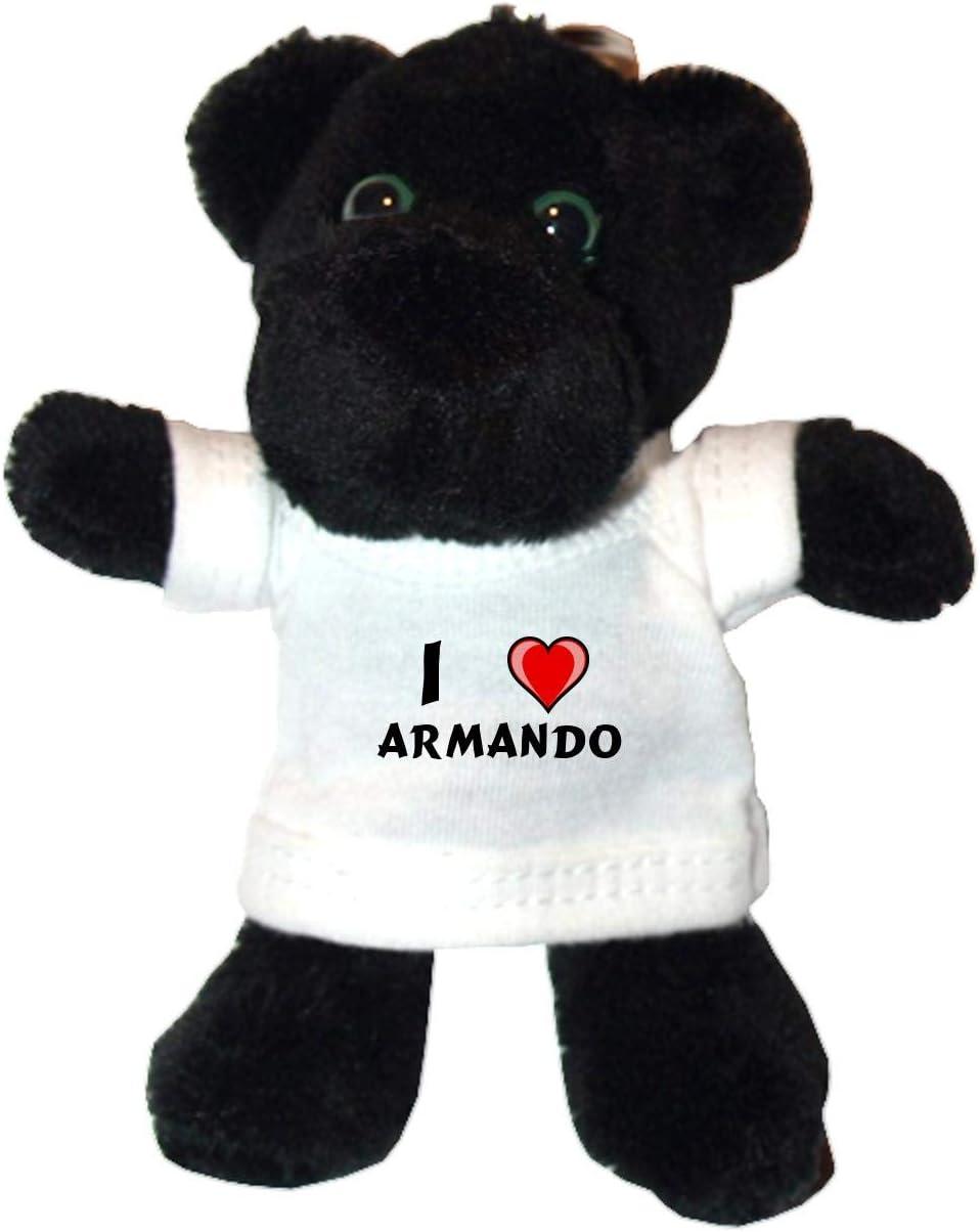Shopzeus Pantera Negro de Peluche Llavero Nombre de Pila//Apellido//Apodo con Amo Armando en la Camiseta