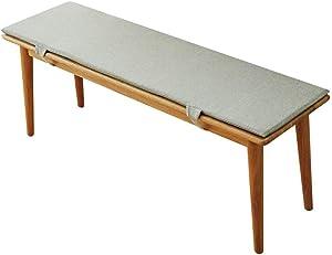 Outdoor Garden Bench Cushion, 2 3 Seats, Removable Outdoor Kitchen Bench Cushions for Outdoor Furniture (150x30cm, Light Gray)