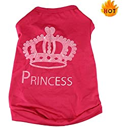 Farjing Clearance Puggy Costumes,Fashion Summer Pet Dog Cat Cute Princess T-shirt Clothes Vest Coat (XS,Red