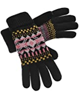Yan & Lei Women's Knitted Winter Gloves with Roll Up Cuffs