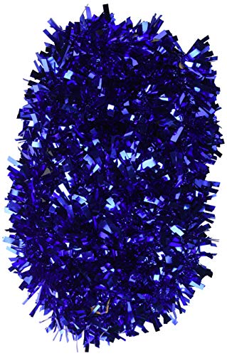 Beistle 50281-B 6-Ply Blue Metallic Festooning Garland, 4