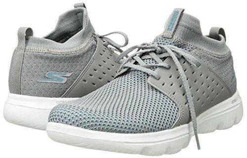 Skechers Performance Women's Go Walk Evolution Ultra-Turbo Sneaker,Gray/Blue,8.5 M US by Skechers (Image #5)