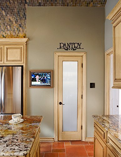 Pantry with Ornate Scroll Vinyl Wall Words Decal Sticker Gra