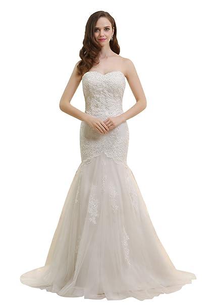Dressilyme - Vestido de novia - ajustado - Mujer Blanco Marfil 52