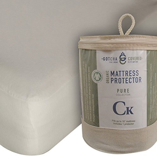 Gotcha The Pure Collection Organic Cotton Jersey Mattress Protector Cal King Natural by Gotcha