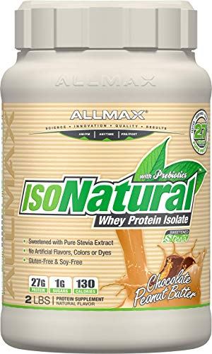 ALLMAX Nutrition Isonatural Whey Protein Isolate, Chocolate Peanut Butter, 2 lbs