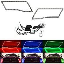 iJDMTOY 204-LED RGB Multi-Color LED Angel Eyes Halo Rings For 2009-2017 Dodge RAM w/ Remote Control