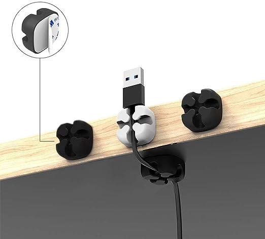 BICMTE Pack de 5 Clips Duraderos para Cable, Sostiene y Esconde ...